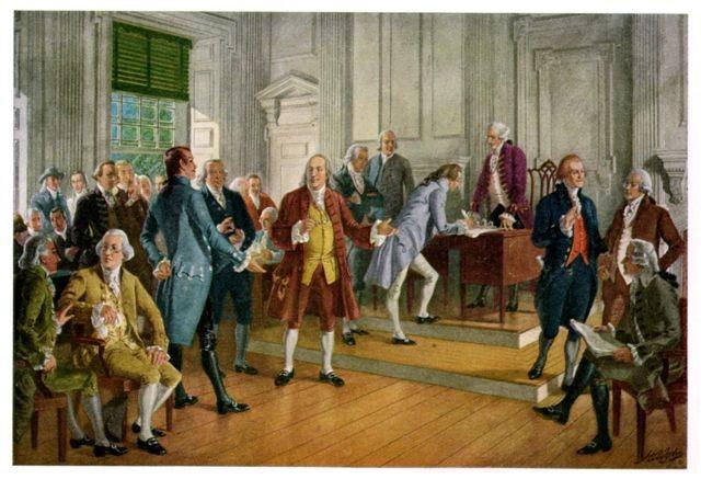 Luglio 1776: dichiarazione di indipendenza degli stati uniti