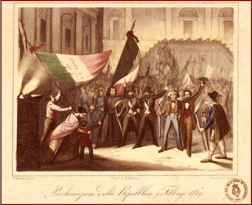 La repubblica romana del 1849 giornali opuscoli bandi for Biblioteca di storia moderna e contemporanea
