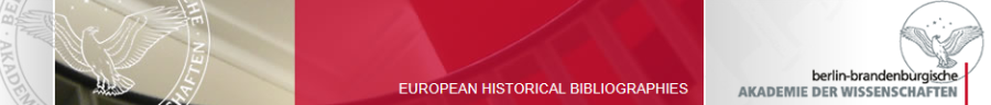 european historical bibliographies