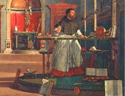 Vittore Carpaccio, Sant'Agostino nello Studio (1502)