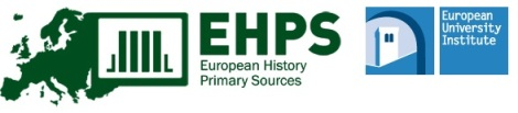 European History Primary Sources (EHPS)