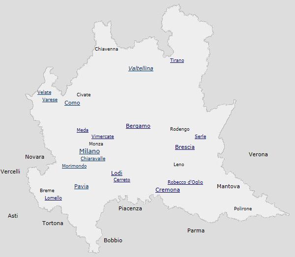 Regione Lombardia Cartina Politica.Codice Diplomatico Della Lombardia Medievale Secoli Viii Xii Bibliostoria