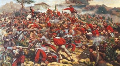 La battaglia di Calatafimi - R. Legat - Museo del Risorgimento - Milano