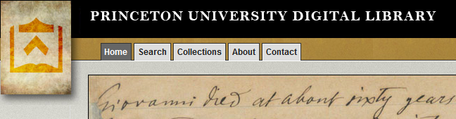 princeton university digital library