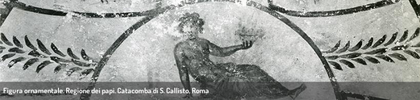 Figura ornamentale. Regione dei papi. Catacomba di S. Callisto, Roma.
