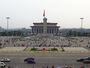 Piazza Tienanmen di Pechino, il centro della protesta. Da Wikipedia.org