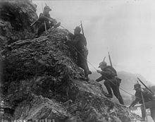 Alpini italiani in movimento. Fonte: Wikipedia