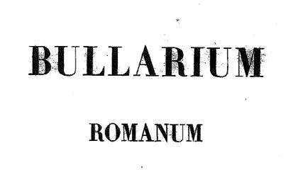 bullarium romanum