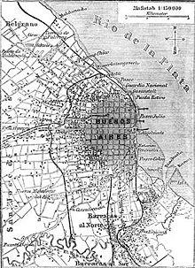 Buenos Aires. Pianta del 1888. Wikipedia