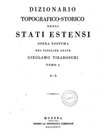 dizionario topografico storico
