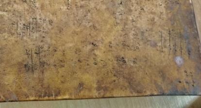 Anche una coperta in pergamena può essere usata come foglio di calcolo